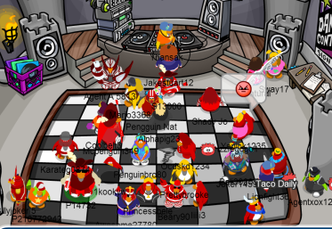 Image result for reds of club penguin